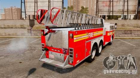 MTL Firetruck MDH1000 Midmount Ladder FDNY [ELS] для GTA 4 вид сзади слева