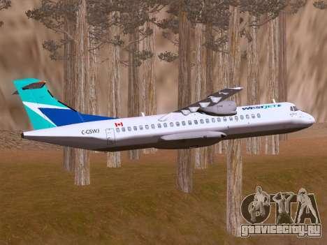 ATR 72-500 WestJet Airlines для GTA San Andreas вид изнутри