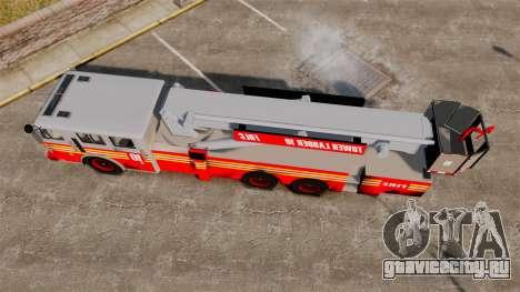 MTL Firetruck Tower Ladder [ELS-EPM] для GTA 4 вид справа