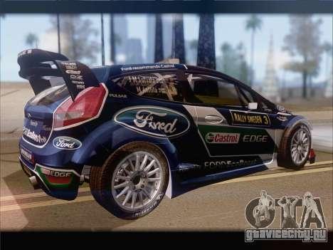 Ford Fiesta RS WRC 2013 для GTA San Andreas вид сзади
