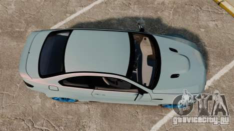 BMW M3 GTS Widebody для GTA 4 вид справа