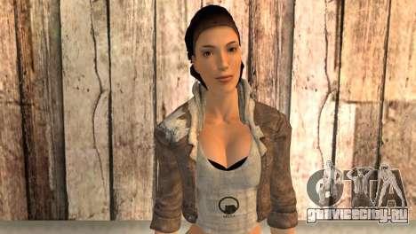 Аликс Вэнс из Half Life 2 для GTA San Andreas третий скриншот