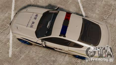 Ford Mustang GT 2015 Cheng Guan Police для GTA 4 вид справа