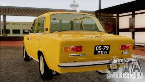 ВАЗ 21011 Такси для GTA San Andreas вид снизу