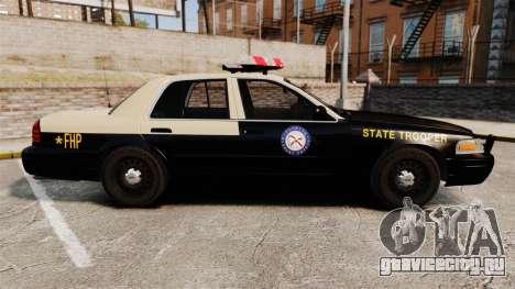 Ford Crown Victoria 1999 Florida Highway Patrol для GTA 4 вид слева