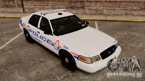 Ford Crown Victoria 2008 LCPD Patrol [ELS] для GTA 4 вид сбоку