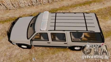 Chevrolet Suburban 1999 Police [ELS] для GTA 4 вид справа