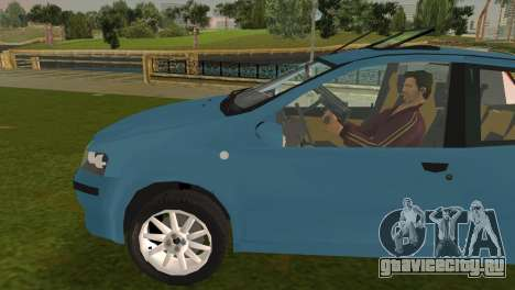 Fiat Punto II для GTA Vice City вид слева