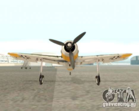 Focke-Wulf FW-190 F-8 для GTA San Andreas вид сзади
