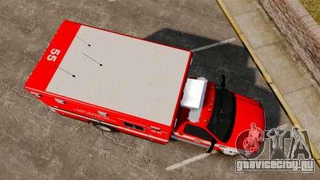 Ford E-350 LAFD Ambulance [ELS] для GTA 4 вид справа