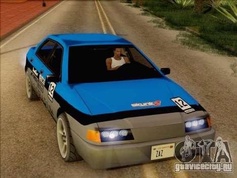 Stratum Sedan Sport для GTA San Andreas вид изнутри
