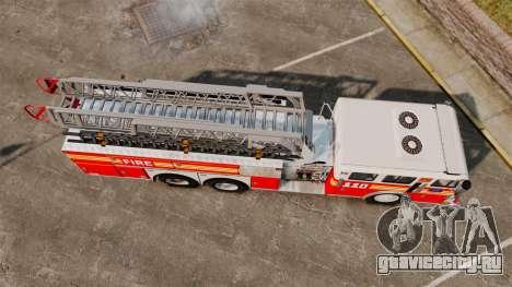 MTL Firetruck MDH1000 Midmount Ladder FDNY [ELS] для GTA 4 вид справа