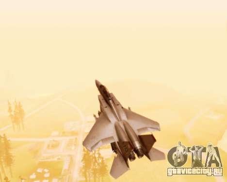 F-15E Strike Eagle для GTA San Andreas вид сверху