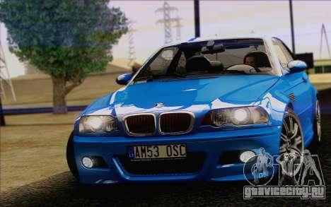 BMW M3 E46 2005 для GTA San Andreas вид справа