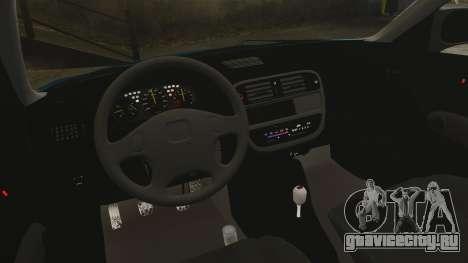Honda Civic EK для GTA 4 вид изнутри