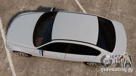 BMW 330i Unmarked Police [ELS] для GTA 4 вид справа