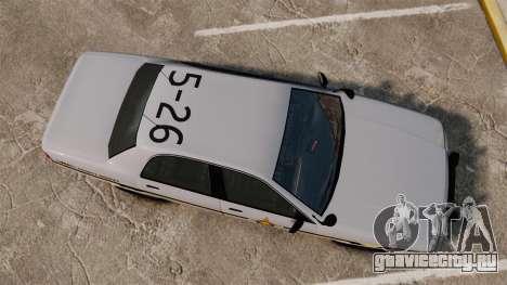 GTA V Vapid Police Cruiser Scheriff [ELS] для GTA 4 вид справа