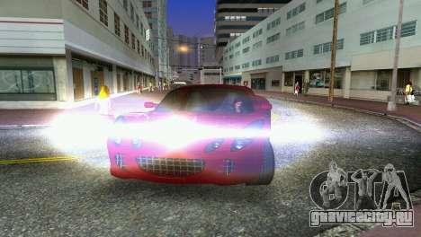 Lotus Elise для GTA Vice City вид изнутри