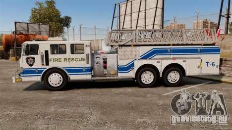 MTL Firetruck MDH1000 Midmount Ladder [ELS] для GTA 4 вид слева