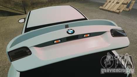 BMW M3 GTS Widebody для GTA 4 вид сверху