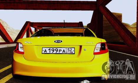 Kia Rio II 2009 для GTA San Andreas вид изнутри