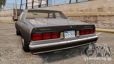 Chevrolet Caprice 1989 v2.0 для GTA 4 вид сзади слева