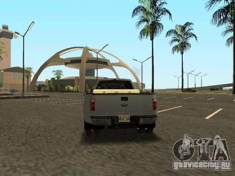 Ford F-350 для GTA San Andreas вид изнутри