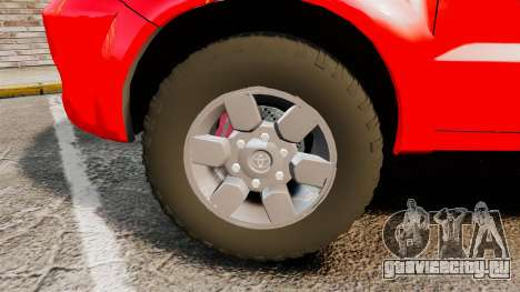 Toyota Hilux French Red Cross [ELS] для GTA 4 вид сзади