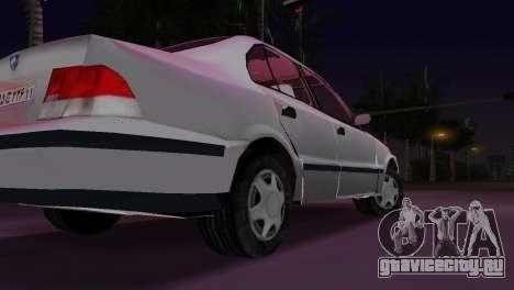 Samand для GTA Vice City вид сзади слева