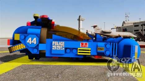 Lego Car Blade Runner Spinner [ELS] для GTA 4 вид слева