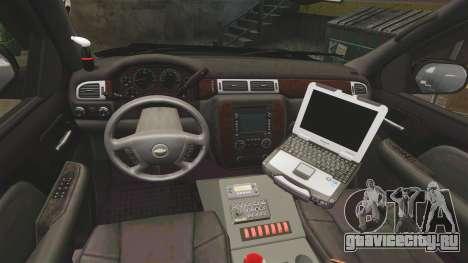 Chevrolet Tahoe 2008 Federal Signal Valor [ELS] для GTA 4 вид сзади