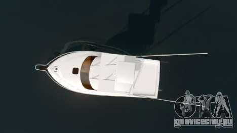 Sport fishing yacht для GTA 4 вид справа