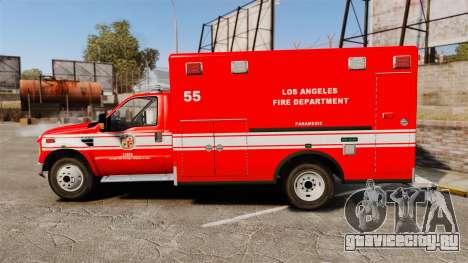 Ford E-350 LAFD Ambulance [ELS] для GTA 4 вид слева