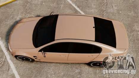 Holden HSV W427 2009 для GTA 4 вид справа