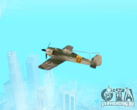 Focke-Wulf FW-190 F-8 для GTA San Andreas вид сбоку