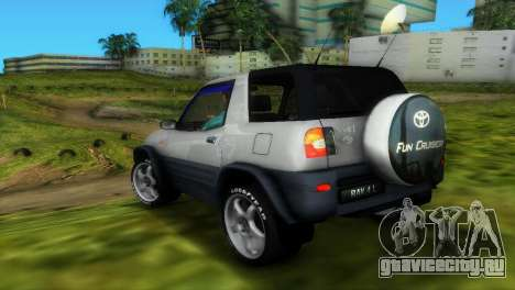 Toyota RAV 4 L 94 Fun Cruiser для GTA Vice City вид сверху