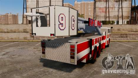 MTL Firetruck Tower Ladder FDLC [ELS-EPM] для GTA 4 вид сзади слева