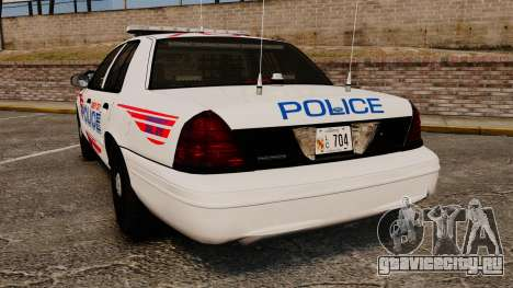 Ford Crown Victoria 2008 LCPD Patrol [ELS] для GTA 4 вид сзади слева