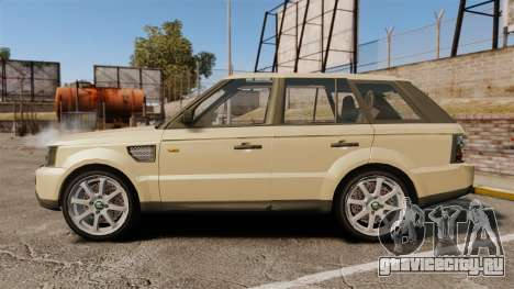Range Rover Sport Unmarked Police [ELS] для GTA 4 вид слева