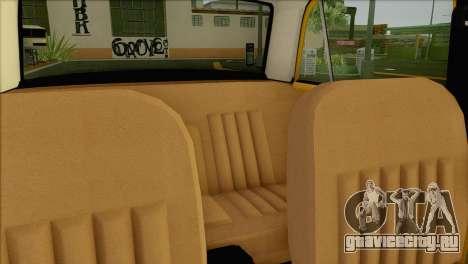 ВАЗ 21011 Такси для GTA San Andreas вид сверху