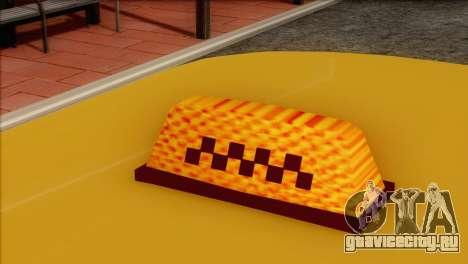 ВАЗ 21011 Такси для GTA San Andreas вид изнутри