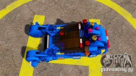 Lego Car Blade Runner Spinner [ELS] для GTA 4 вид справа