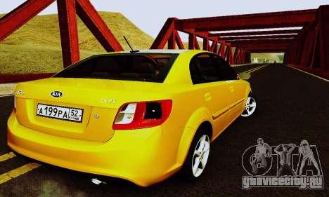 Kia Rio II 2009 для GTA San Andreas вид сбоку