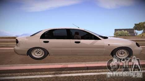 Daewoo Lanos для GTA San Andreas вид слева