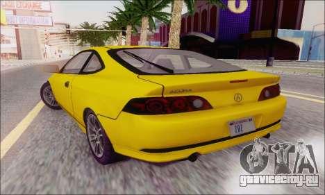 Acura RSX для GTA San Andreas вид сзади