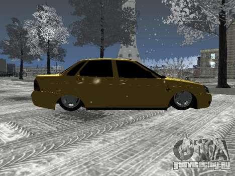 ВАЗ 2170 для GTA San Andreas вид сзади