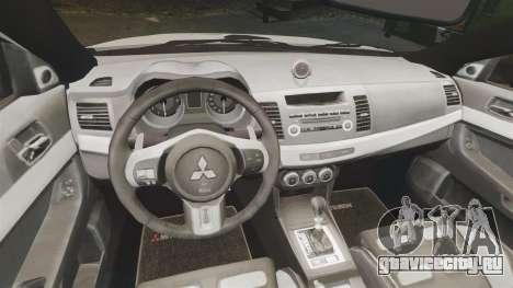 Mitsubishi Lancer Evo X Humberside Police [ELS] для GTA 4 вид изнутри
