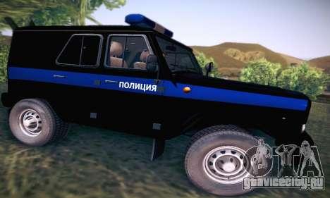 УАЗ Hunter Полиция для GTA San Andreas вид сзади