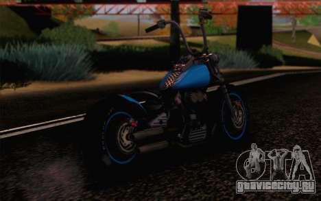 Harley-Davidson Knucklehead для GTA San Andreas вид слева