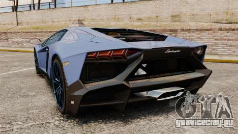 Lamborghini Aventador LP720-4 50th Anniversario для GTA 4 вид сзади слева
